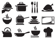 Kitchen Utensil Vector Icon Set Stock Image