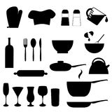 Kitchen utensils royalty free illustration