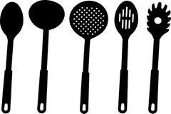 Kitchen utensils - royalty free illustration