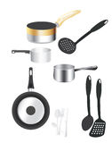 Kitchen utensils. A set of kitchen utensils Stock Photography