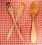 Kitchen utensils. Wooden kitchen tools Stock Photo