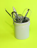 Kitchen utensils. Arranged in a crock pot Royalty Free Stock Photo