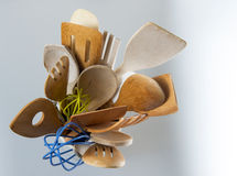 Kitchen Utensils. Shot from directly above. Copyspace royalty free stock photography