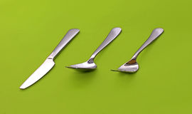 Kitchen utensils. Utensils of kitchen (fork, knife, spoon royalty free stock photo