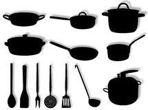 Kitchen utensils Stock Images