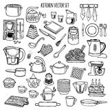 Kitchen utensils and appliance  icons set. Royalty Free Stock Images