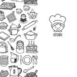 Kitchen utensils and appliance vertical banner Royalty Free Stock Photo