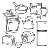 Kitchen Utensils and Appliances Royalty Free Stock Photo