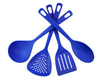 Kitchen utensils - blue Royalty Free Stock Photos