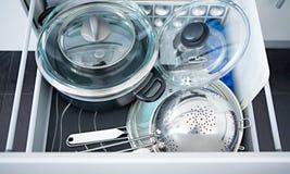 Kitchen utensils in a box Stock Photos