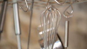 Kitchen utensils stock footage