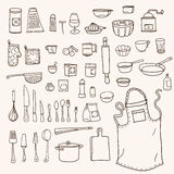 Kitchen utensils collection Royalty Free Stock Photography
