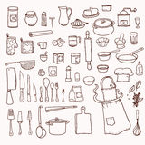 Kitchen utensils collection Royalty Free Stock Photo