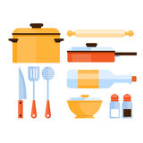 Kitchen Utensils Collection. Vector Illustration Stock Image