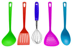 Kitchen utensils - colorful Stock Image