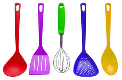 Kitchen utensils - colorful Royalty Free Stock Photo