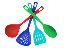 Kitchen utensils - colorful Stock Photos