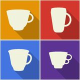 Kitchen utensils and cookware flat icons set Royalty Free Stock Photography