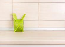 Kitchen utensils on countertop Stock Image