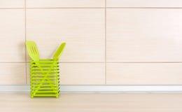Kitchen utensils on countertop Stock Photos