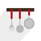 Kitchen utensils and equipment icon Stock Photography