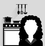 Kitchen utensils and equipment icon Royalty Free Stock Photo