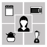 Kitchen utensils and equipment icon Stock Photos