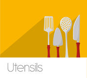 Kitchen utensils and equipment icon Royalty Free Stock Photography