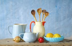 Kitchen utensils,food ingredients Stock Photo