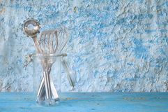 Kitchen utensils in a glass jar, Stock Images