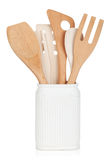Kitchen utensils in holder Royalty Free Stock Image