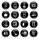 Kitchen utensils icons Royalty Free Stock Photo