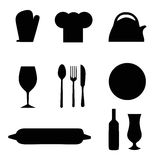 Kitchen Utensils. Illustration with kitchen ustensils Royalty Free Stock Images