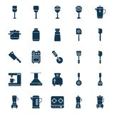 Kitchen Utensils Isolated Vector Icon set can be easily modified or edit stock illustration