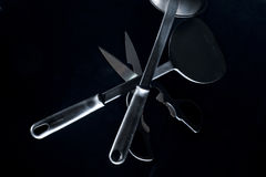 Kitchen Utensils - Low Key Photo. Low key photo of kitchen utensils Stock Images