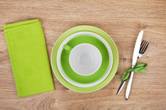 Kitchen utensils over wooden table Royalty Free Stock Photo
