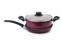 Kitchen utensils pan pot isolated Royalty Free Stock Photo