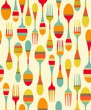 Kitchen utensils pattern Royalty Free Stock Photos