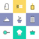 Kitchen utensils pictogram icons set Royalty Free Stock Photo