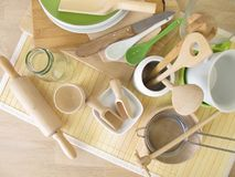 Kitchen utensils without plastic Royalty Free Stock Photography