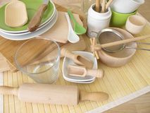 Kitchen utensils without plastic Stock Photography