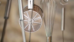 Kitchen utensils stock video