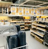 Kitchen utensils for sale inside IKEA store stock photo
