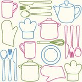 Kitchen utensils - seamless pattern Stock Image