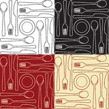 Kitchen utensils - seamless pattern Royalty Free Stock Images