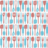 Kitchen utensils seamless pattern Stock Photos