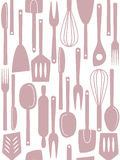 Kitchen utensils seamless pattern royalty free stock photo