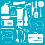 Kitchen utensils set Royalty Free Stock Photos