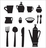 Kitchen utensils set Royalty Free Stock Images
