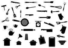 Kitchen utensils set Royalty Free Stock Image